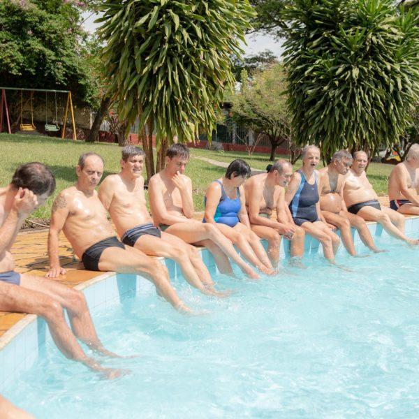 Todos na piscina
